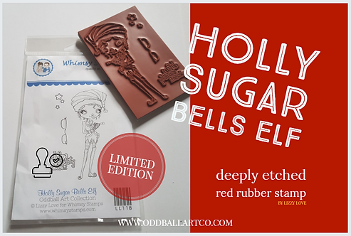 Rubber Stamp Limited Edition Holly Sugar Bells Elf