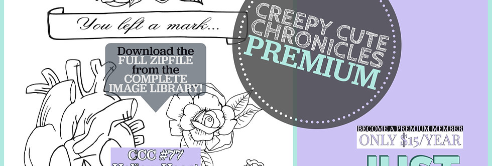 CCC# 77 HOLLOW HEART PREMIUM Creepy Cute Chronicles
