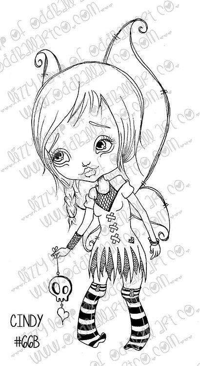 Digital Stamp Big Eye Creepy Cute Fairy Girl Cindy Image No. 66