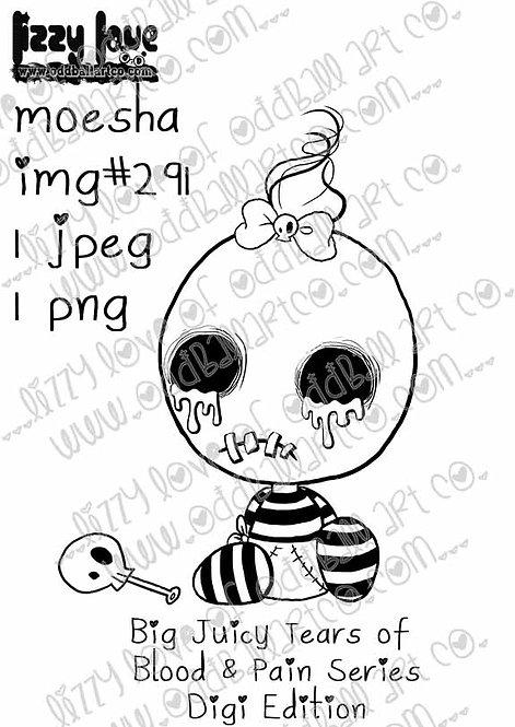 Digital Stamp Big Juicy Tears of Blood & Pain Digi Edition Moesha Image No. 291