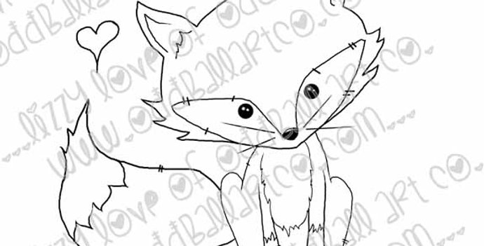 Digi Stamp Whimsical Animals Mr Sweets the Fox Image No 192
