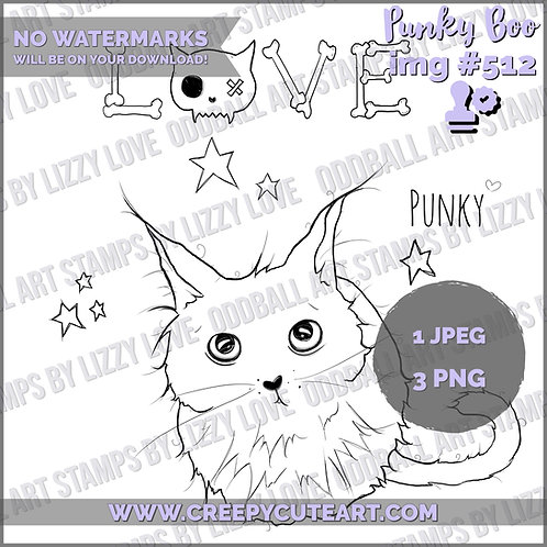 Digi Stamp Creepy Cute Tribute to My Dearly Departed Punky Boo Image# 512
