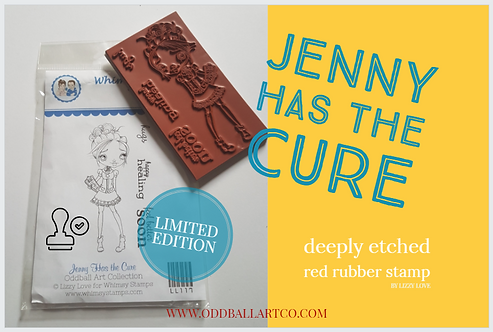 Rubber Stamp Limited Edition Jenny Has the Cure