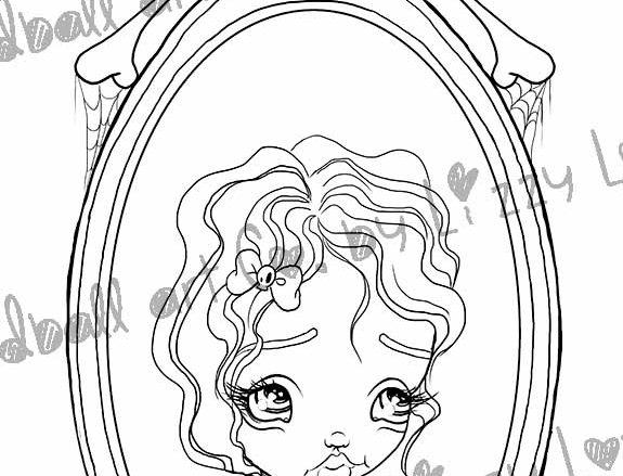 Digital Stamp Big Eye Creepy Cute Snow White Tribute Charlotte Image No. 300