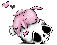 Skull and Bunny Logo BABY PINK.png