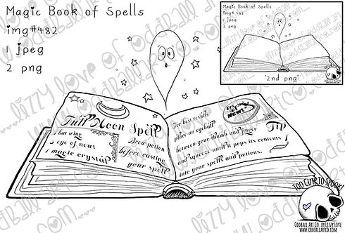 Digi Stamp Whimsical Magic Book of Spells Image No. 482