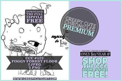 CCC# 123 FOGGY FOREST FLOOR DIGI STAMP Creepy Cute Chronicles