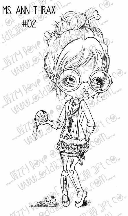 Digi Stamp Creepy Cute Science Teach Ms Ann Thrax Image 102