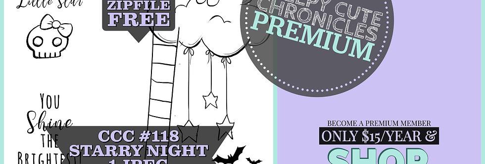 CCC# 118 STARRY NIGHT DIGI STAMP Creepy Cute Chronicle