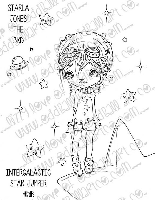 Digital Stamp Starla Jones the 3rd Intergalactic Star Jumper Image No. 151