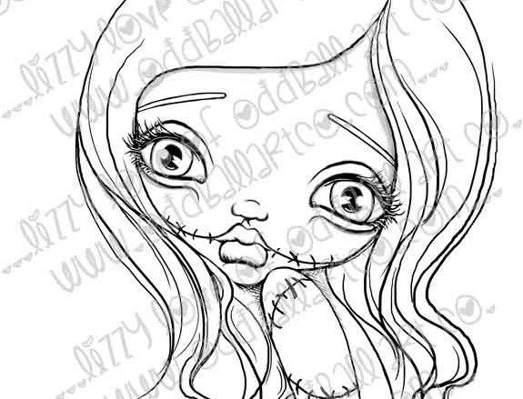"Digital Stamp Kawaii Creepy Cute ""Sugar"" Image No. 242"