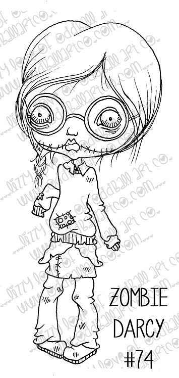 Digital Stamps Creepy Cute Geek Girl Dirty Darcy & Zombie Darcy Image No. 74
