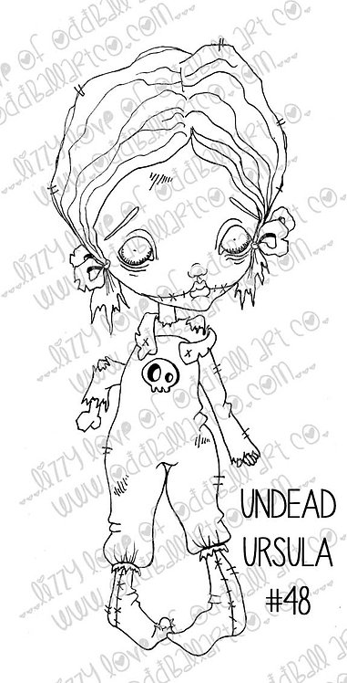 Digital Stamp Creepy Cute Big Eye Zombie Girl Image No. 48