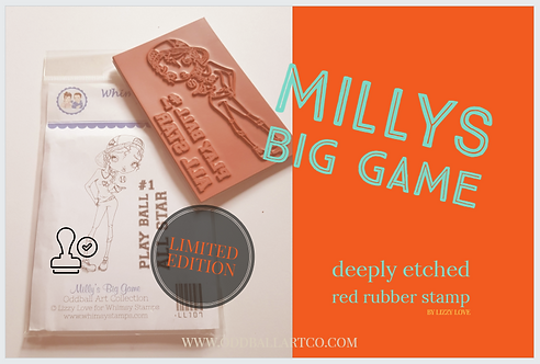 Rubber Stamp Limited Edition Milly's Big Game