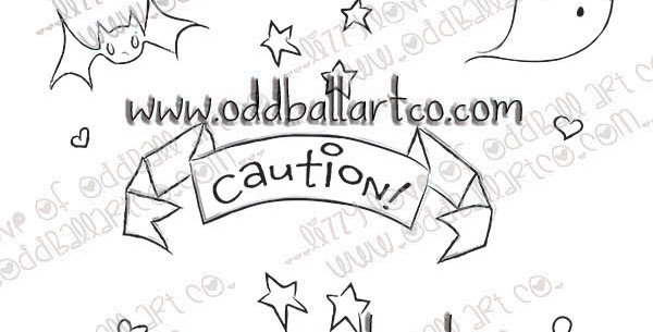 Digital Stamp Creepy Cute Doodle Page Image No. 444