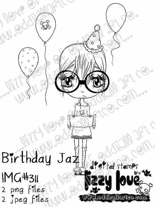 Digital Stamp I'll Cry if I Want To Birthday Party Jaz Image No.311