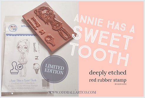 Rubber Stamp Limited Edition Annie Has A Sweet Tooth