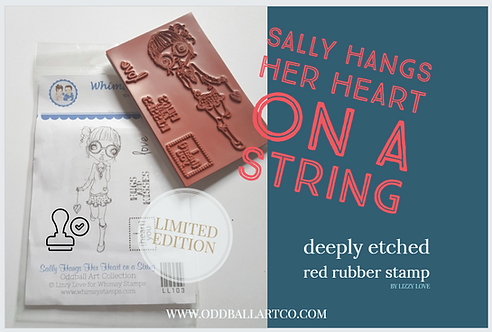 Rubber Stamp Limited Edition Sally Hangs Her Heart On A String