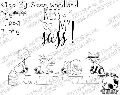 Digi Stamp Creepy Cute Kiss My Sass Woodland Critters Image 499