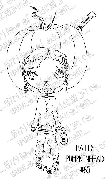 Digi Stamp Creepy Cute Halloween Patty Pumpkin Head Image#85