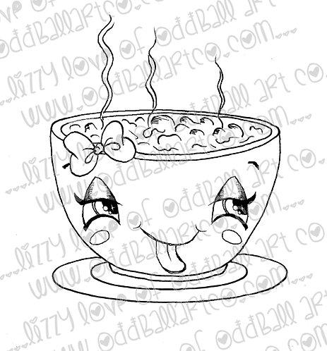 Printable Stamp Vegan Chili Bowl Digital Download Image No 179