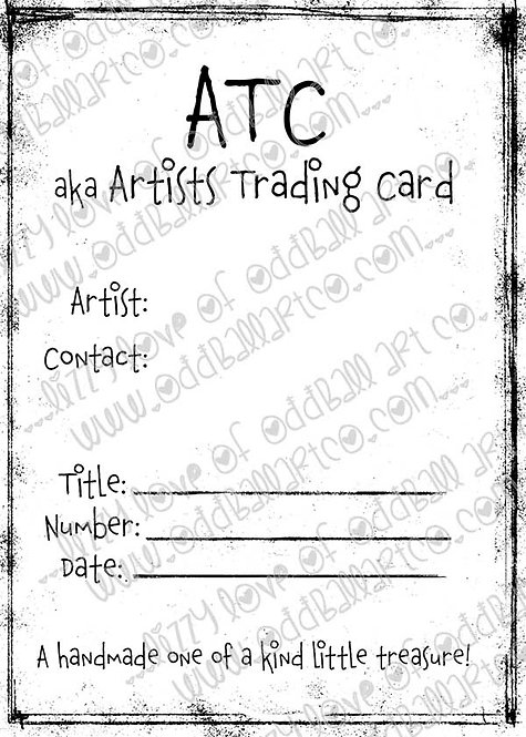 Digi Stamp Digital Instant Download ACEO/ATC Backer Card Image No. 399