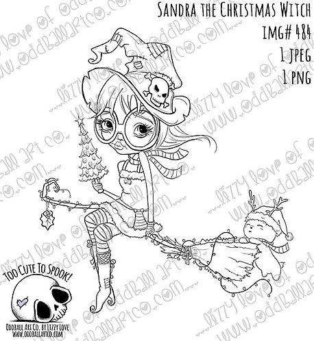 Digi Stamp Creepy Cute Sandra the Christmas Witch Image No. 484
