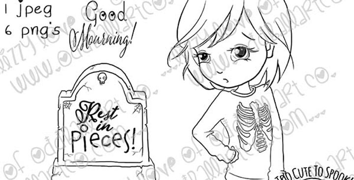 Digi Stamp Creepy Cute Poppy in Halloween Dreams & Graveyard Puns Image #473