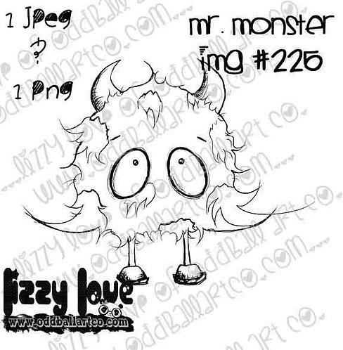 Digital Stamp Big Eye Creep Mr.Monster Image No. 225