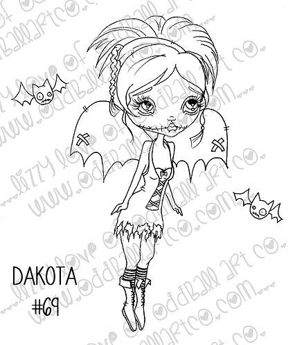 Digital Stamp Big Eye Creepy Cute Fairy Dakota Image No. 69