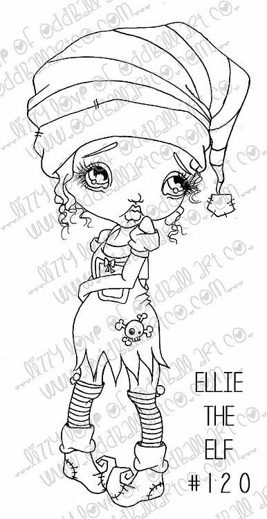 Digi Stamp Ellie the Elf Whimsical Big Eye Elf Girl IMG 120
