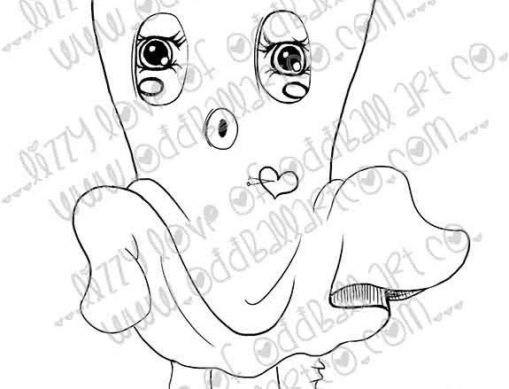 Digital Stamp Spooky Cute Bed Sheet Ghost Image 254