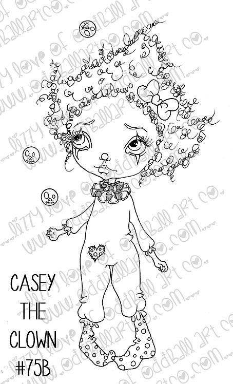 Digital Stamp Cute Circus Big Eye Casey the Clown Image No. 75