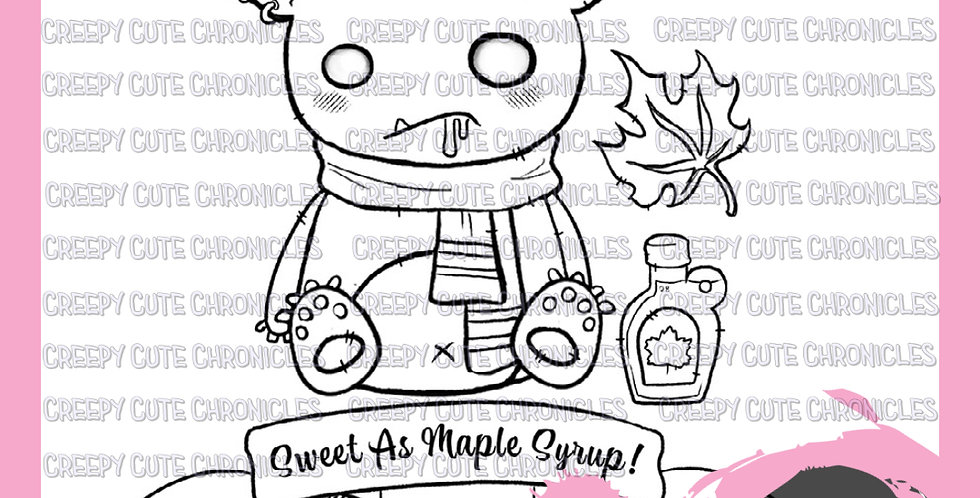 CCC# 129 MAPLE MONSTER DIGI STAMP Creepy Cute Chronicles