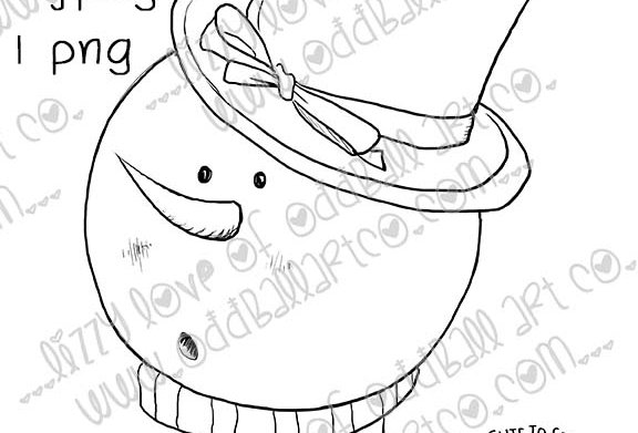 Digi Stamp Chilly Willy Snowman Head Only A Dollar Image # 497
