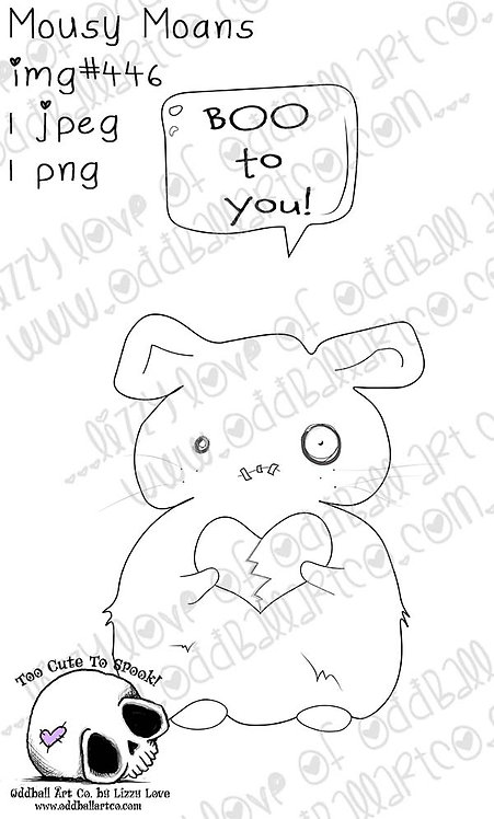 Digital Stamp Creepy Cute Zombie Mouse Mousy Moans Image No. 446