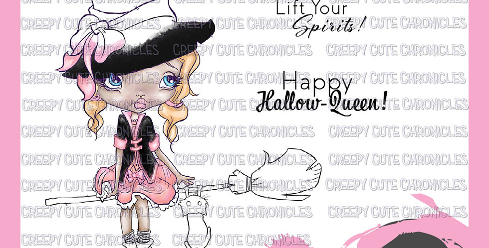 CCC# 126 IF I WERE A WITCH DIGI STAMP Creepy Cute Chronicles