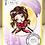 Thumbnail: Digital Stamp Sweet Whimsical Big Eye Girl Fiona Image No.317