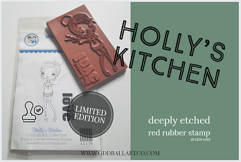 Rubber Stamp Limited Edition Holly's Kitchen