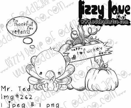 Digital Stamp Sweetest Thanksgiving Ted the Cutest Turkey Image No. 262