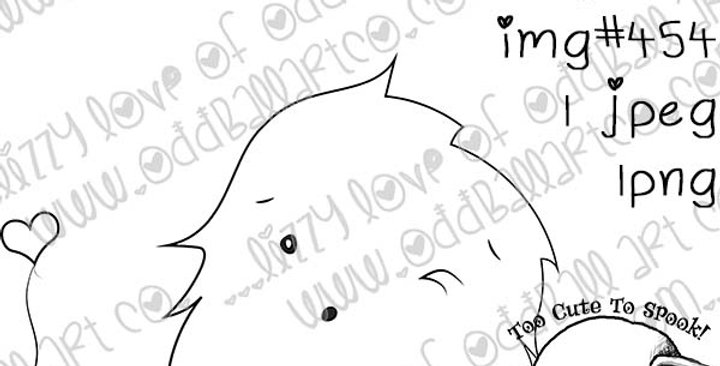 Printable Stamp Cute Little Fuzzy Missing You Monster Digi Stamp Image No. 454