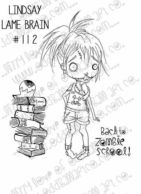 Digi Stamp Creepy Cute Lindsay Lame Brain First Day Img# 112