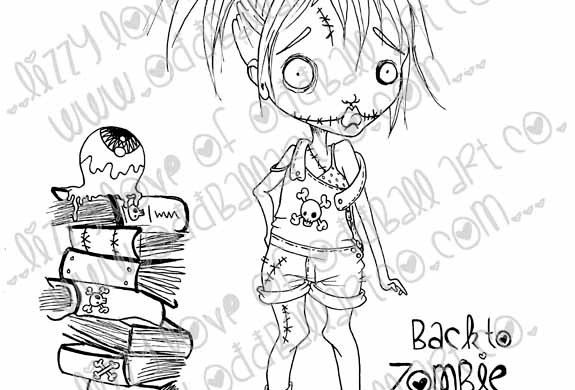 Digi Stamp Creepy Cute Lindsay Lame Brain First Day Img# 112
