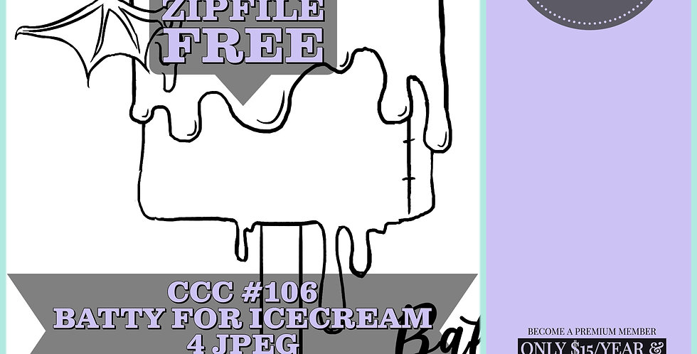 CCC# 106 BATTY FOR ICECREAM Creepy Cute Chronicle