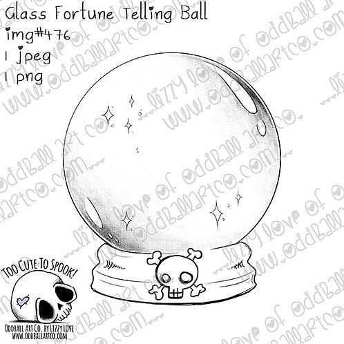 Digi Stamp Fortune Tellers Circus Magic Glass Ball Pastel Goth Image #476