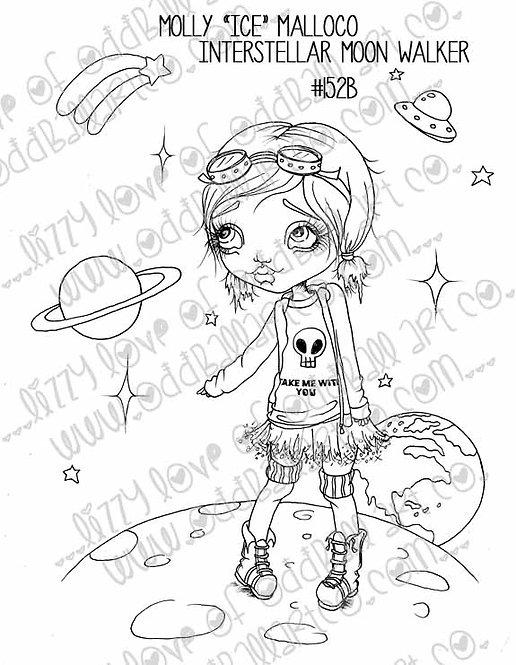 "Digital Stamp Molly ""Ice"" Malloco Interstellar Moon Walker Image No. 152"