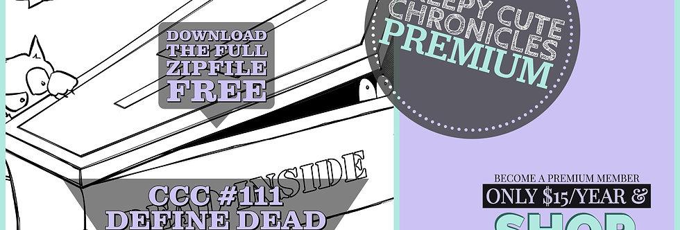 CCC# 111 DEAD INSIDE DIGI STAMP Creepy Cute Chronicle