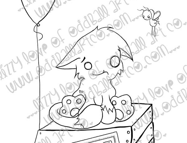 Digital Stamp Creepy Cute & Whimsical Creature Feature ~ Image No. 419