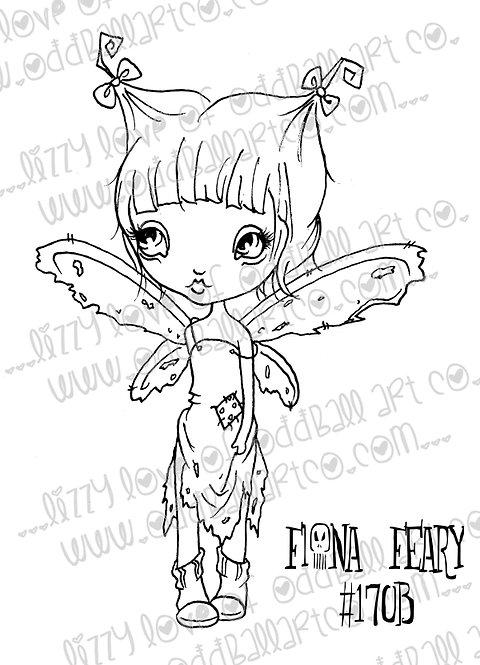 Digital Stamp Spooky Big Eye Art Fiona Feary Image No. 170