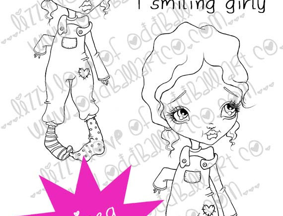 Digital Stamp Big Eye Girl Patsy Image No. 17